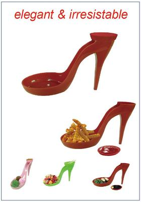 snack serving dish - high heel