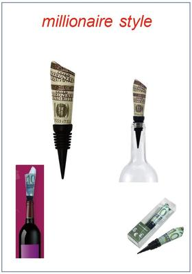 money roll - wine stopper